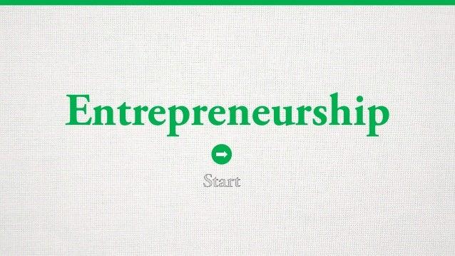 Entrepreneurship Start
