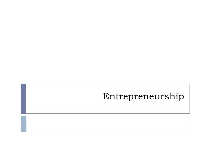 Entrepreneurship<br />