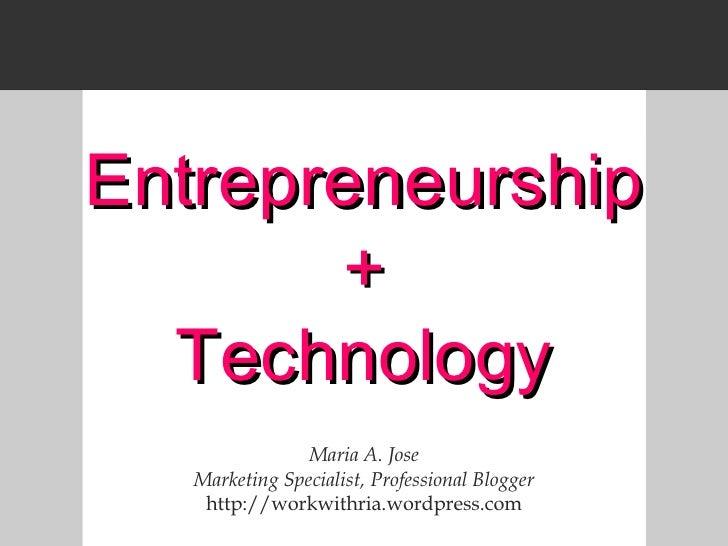 Entrepreneurship And Technology