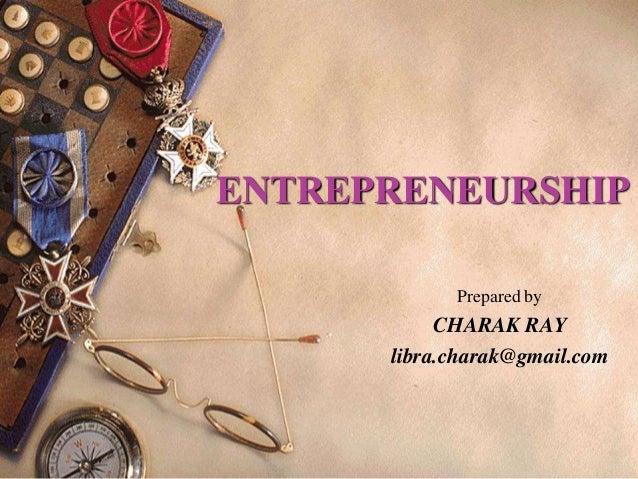 Entrepreneurship  a summary