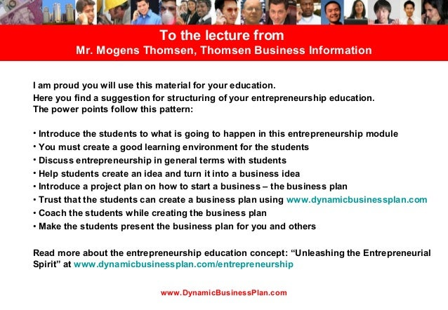 To the lecture from         Mr. Mogens Thomsen, Thomsen Business InformationI am proud you will use this material for your...
