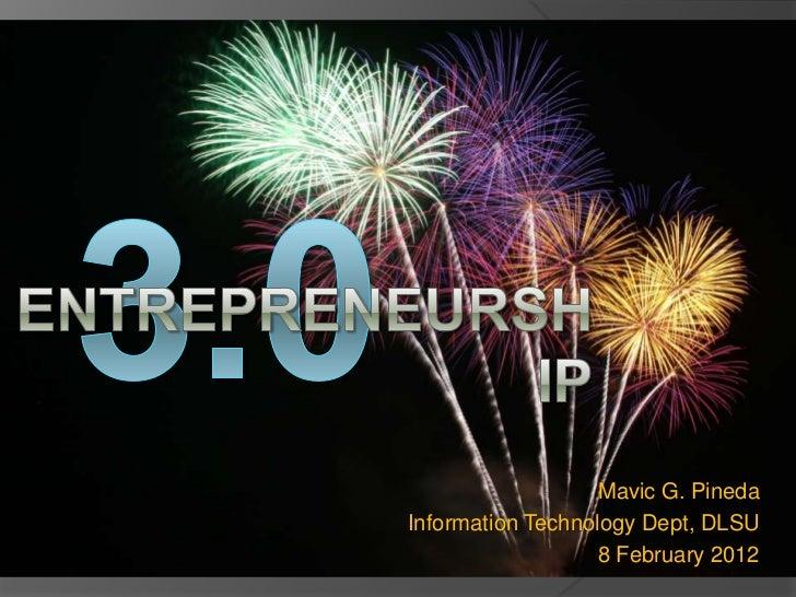 Entrepreneurship 3.0