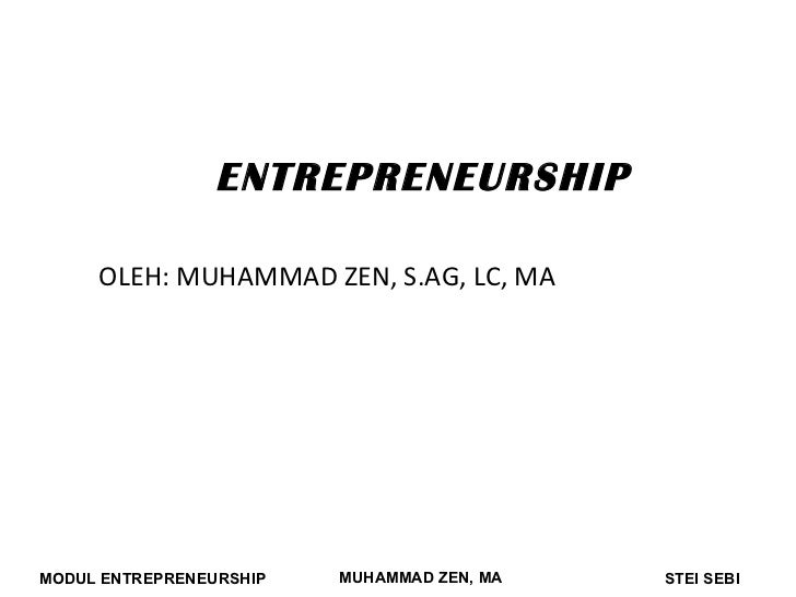 Entrepreneurship 8 13