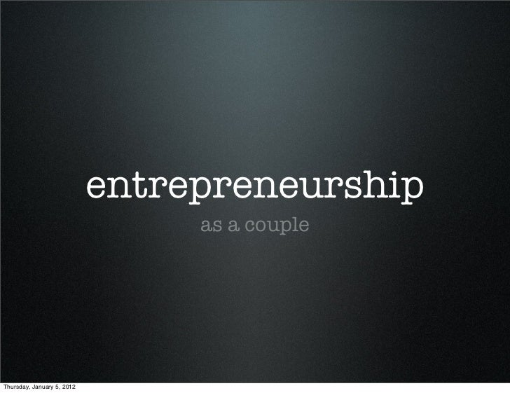 Entrepreneurship as Couple