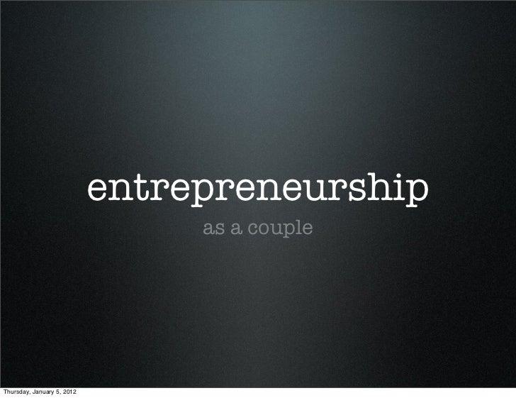 Entrepreneurship as couple