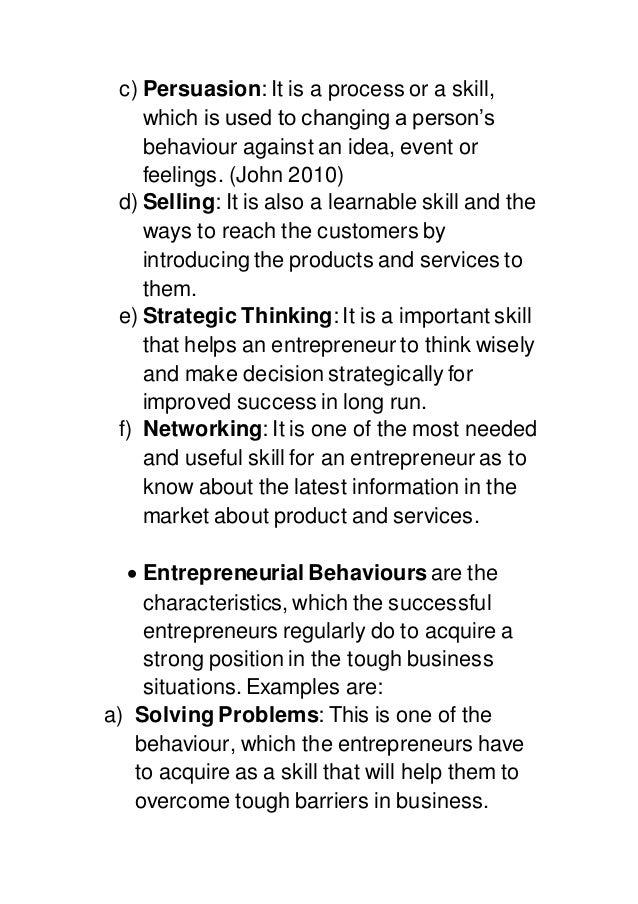 Entrepreneurship assignment