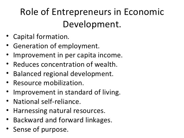 role of entrepreneurship and innovation Entrepreneurship is the process of designing, launching and running a new  business, which is  in this sense, the term entrepreneurship also captures  innovative activities on the part of  economist joseph schumpeter (1883–1950)  saw the role of the entrepreneur in the economy as creative destruction –  launching.