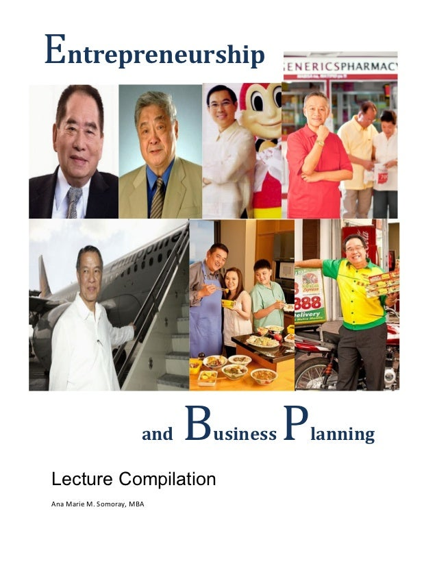 Entrepreneurship and Business Planning Lecture Compilation