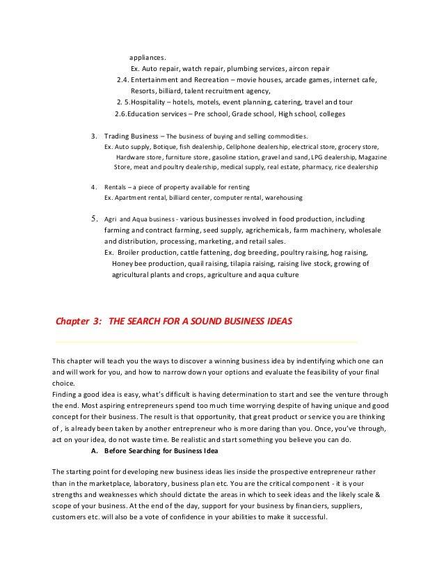 Auto service business plan