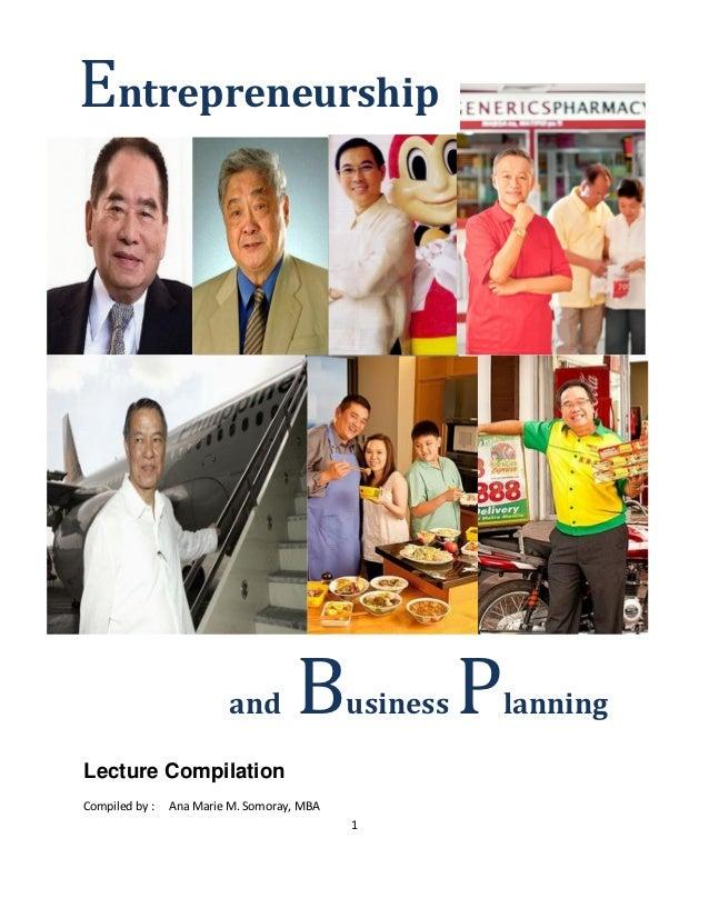 Entrepreneurship lecture compilation