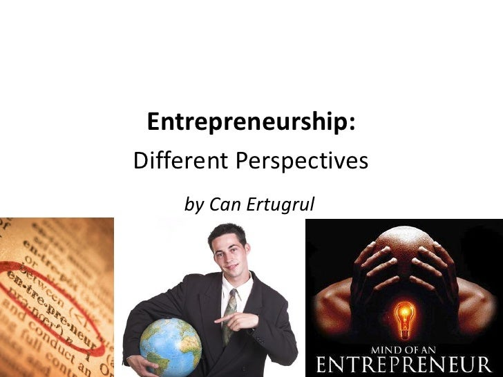 Entrepreneurship:Different Perspectives    by Can Ertugrul