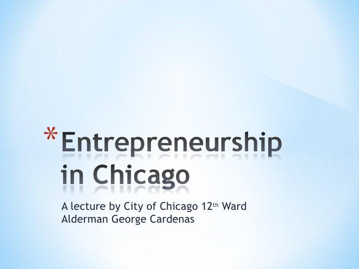 Entrepreneurship in Chicago