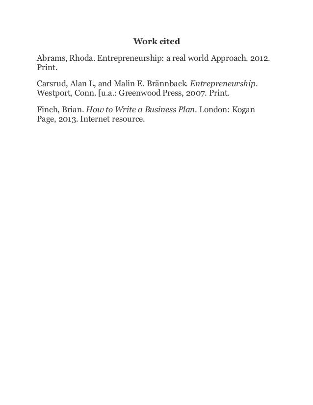 Essay on entrepreneurship