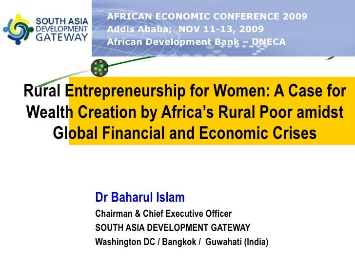 Entreprenurship And Inct For African Women   Aec 2009