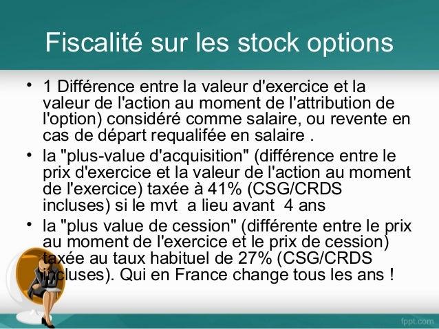 Csg crds sur stock options