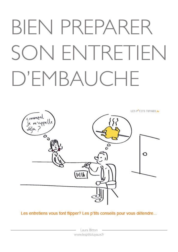 BIEN PREPARER SON ENTRETIEN D'EMBAUCHE