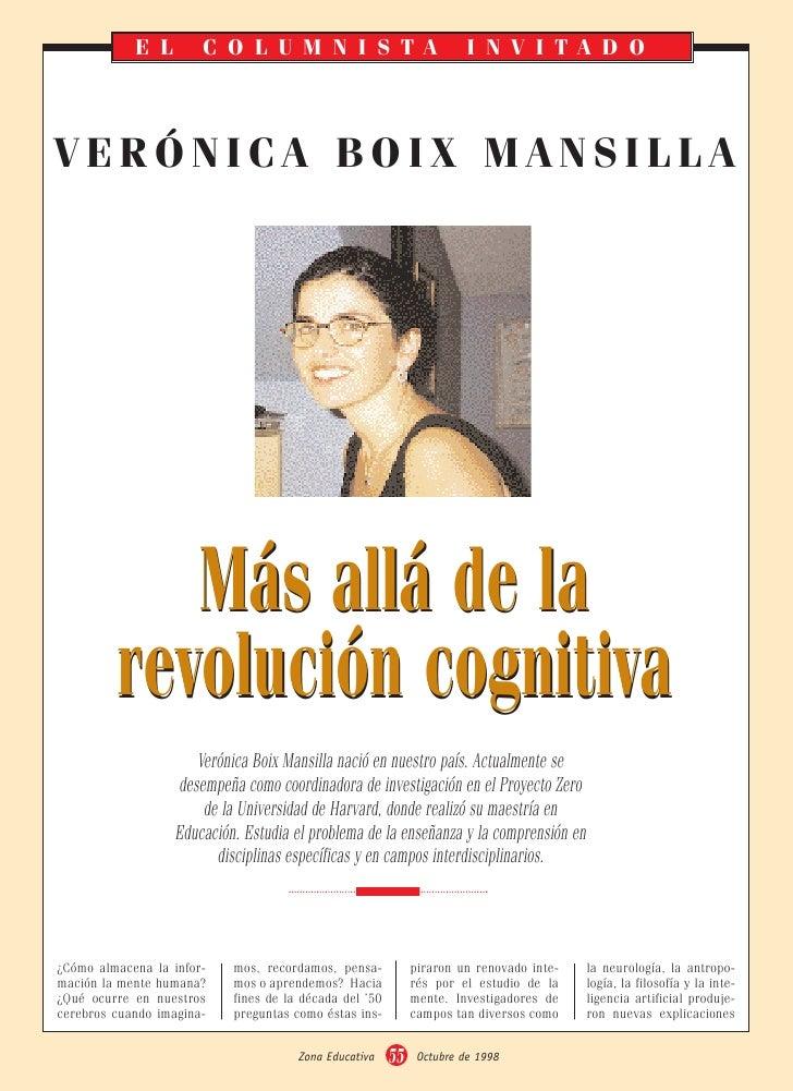 EL         COLUMNISTA                                      INVITADO     VERÓNICA BOIX MANSILLA                 Más allá de...