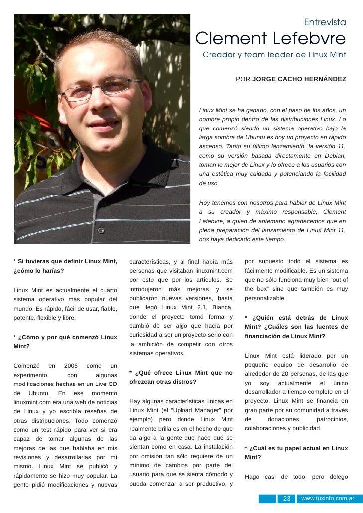 Entrevista                                                                   Clement Lefebvre                             ...