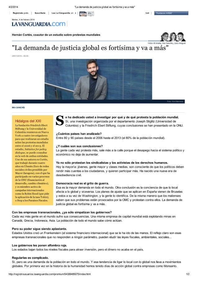 Entrevista a Hernan Cortes - demanda de justicia global