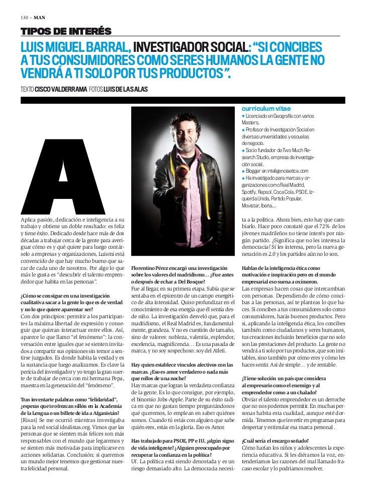 Entrevista a Luis Miguel Barral - Investigación de Mercados y Ética