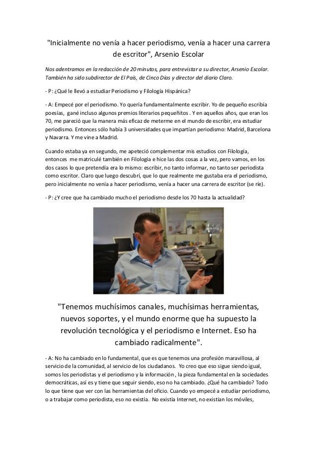 Entrevista Arsenio Escolar