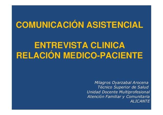 Entrevista clínica  comunicación asistencial  r2