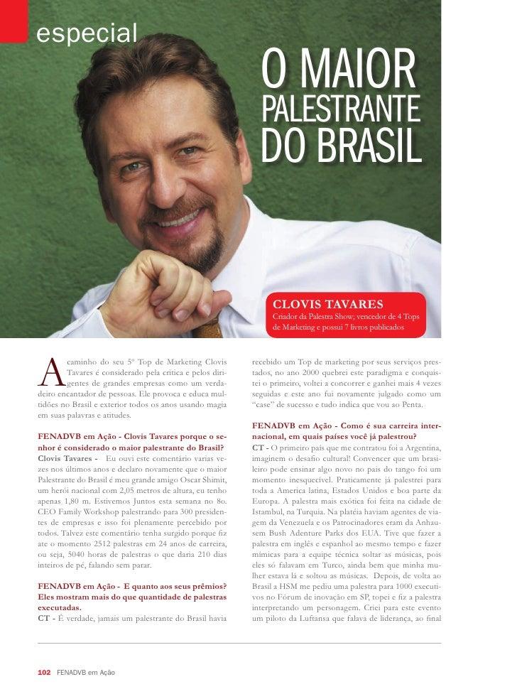 Entrevista Clovis Tavares FENADVB em ação
