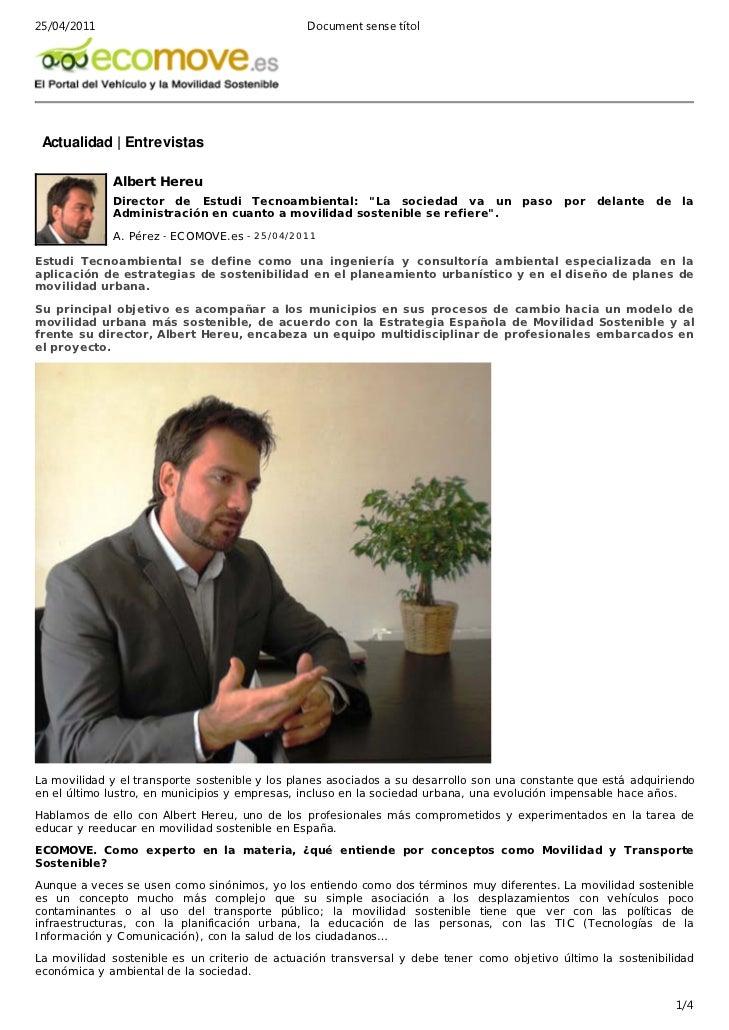 Entrevista Ecomove Albert Hereu