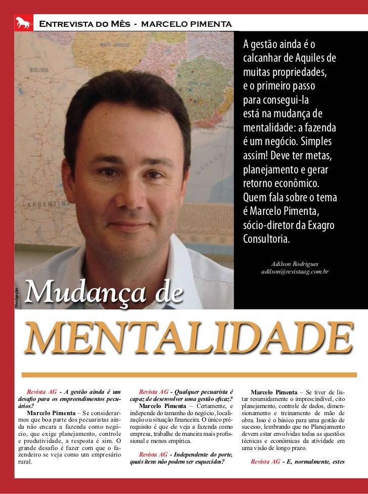 Entrevista do Mês - MARCELO PIMENTA                                                                                       ...