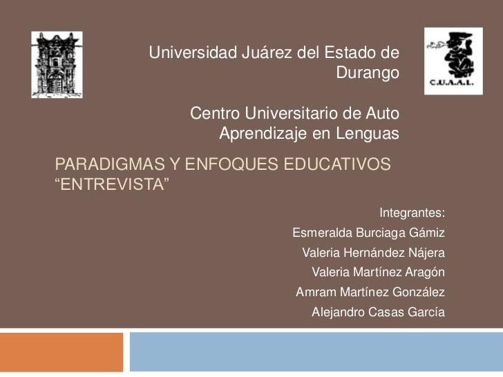 Universidad Juárez del Estado de                                Durango             Centro Universitario de Auto          ...