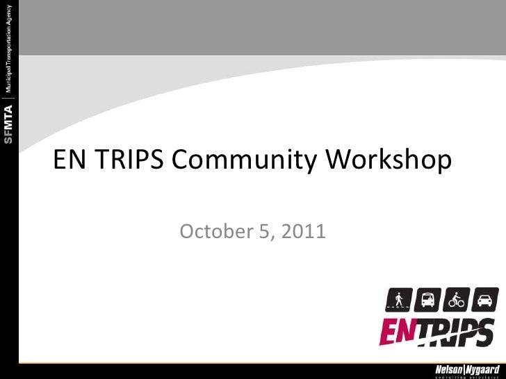 Community Meeting #2 Slideshow Presentation