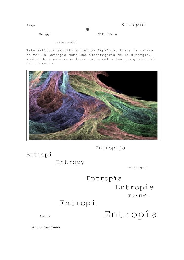 Entropía                                         Entropie                                   熵            Entropy          ...