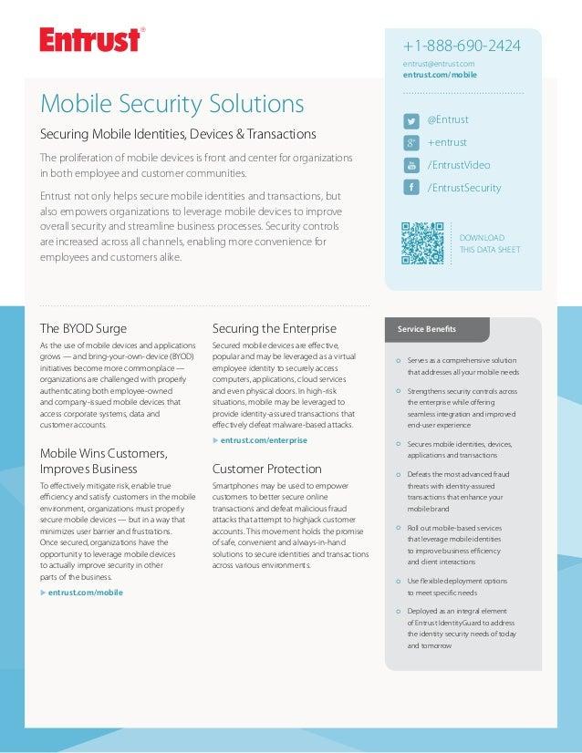 Entrust Mobile Security Solutions