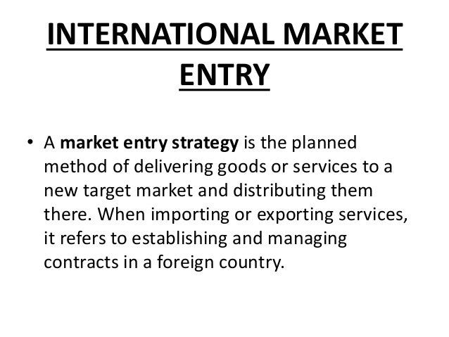 global entry strategy paper A joint paper by the federal deposit insurance corporation and the bank of england the paper discusses how such a top-down strategy entry strategy may offer.