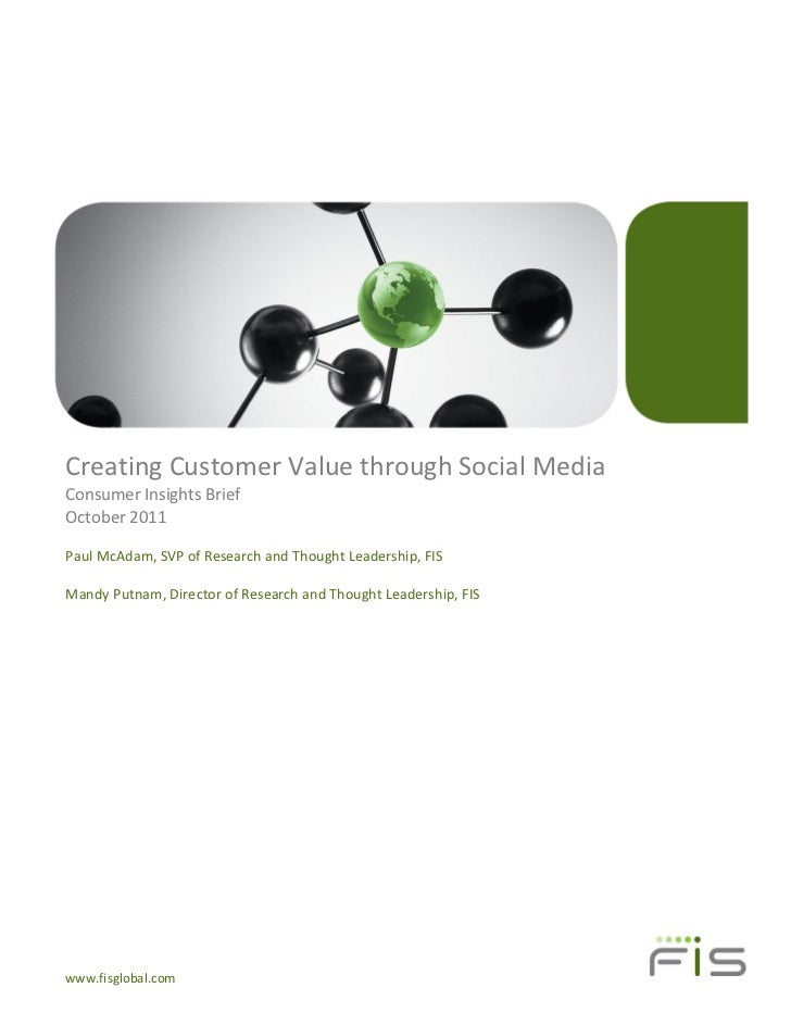 Creating Customer Value Through Social Media