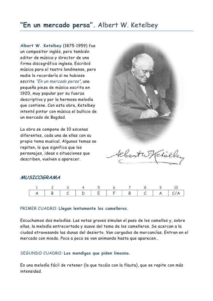 """""""En un mercado persa"""". Albert W. Ketelbey   Albert W. Ketelbey (1875-1959) fue un compositor inglés, pero también editor d..."""