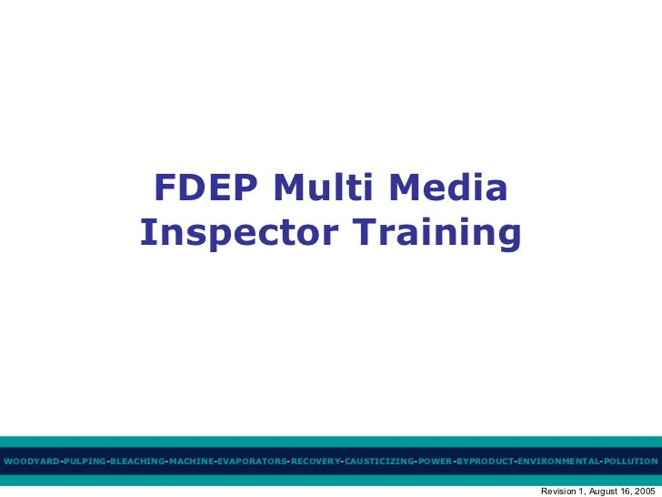 FDEP Multi Media Inspector Training