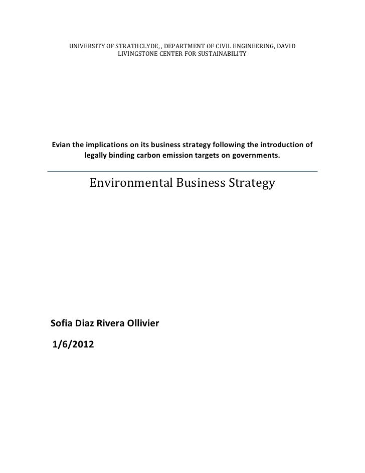 Env. business strategy evian