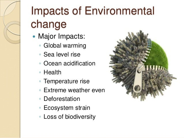 the issue of global warming and its impact on the environment A major cause of global warming is the attitude of mankind to nature technical solutions alone won't be enough to fight global warming, we.