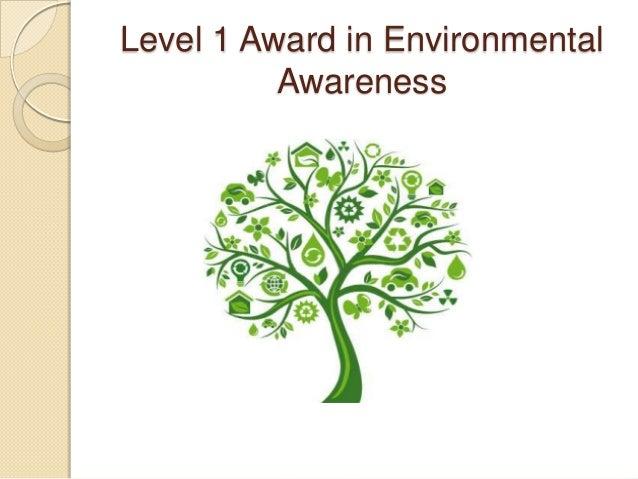 Level 1 Award in Environmental Awareness