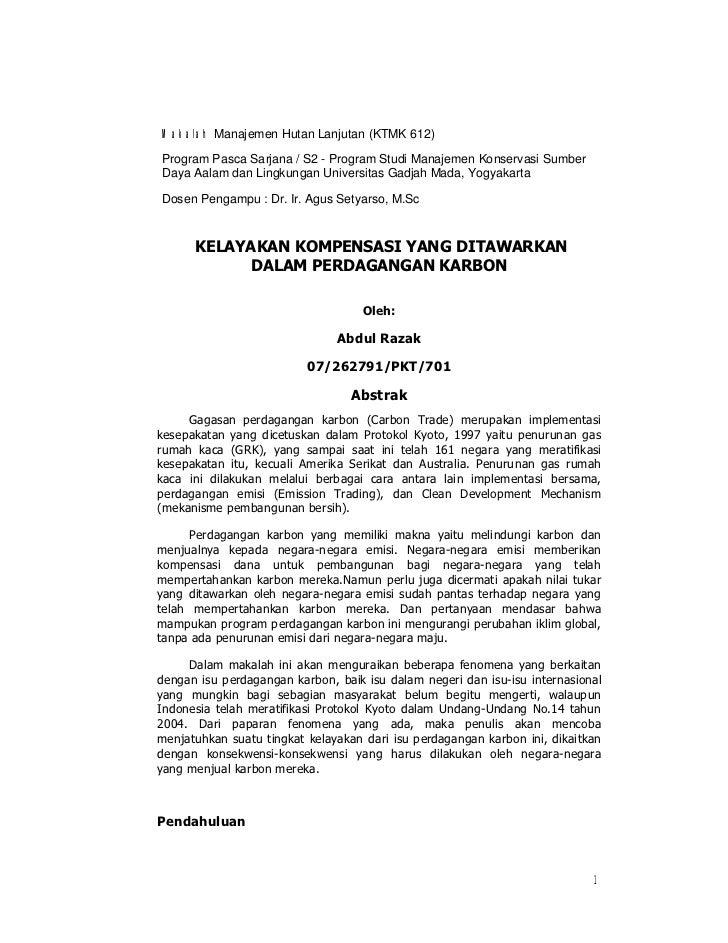 Makalah Manajemen Hutan Lanjutan (KTMK 612)Program Pasca Sarjana / S2 - Program Studi Manajemen Konservasi SumberDaya Aala...