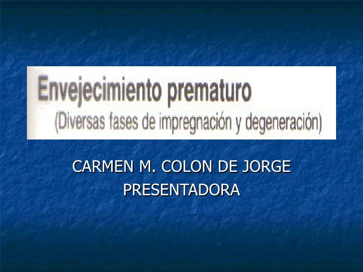 CARMEN M. COLON DE JORGE PRESENTADORA