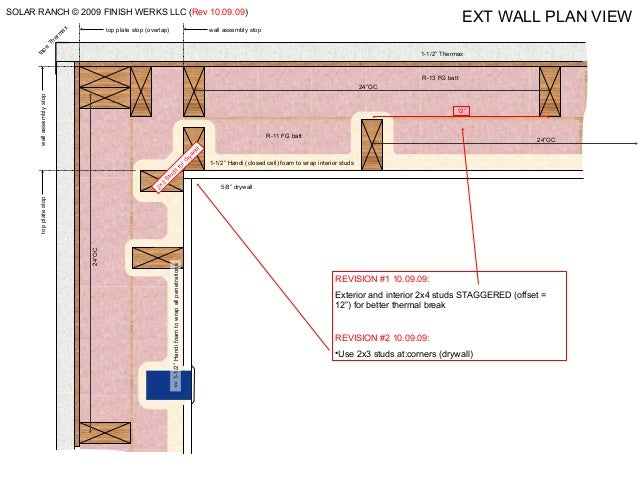 Double Stud Wall Construction : Super double offset wall construction details