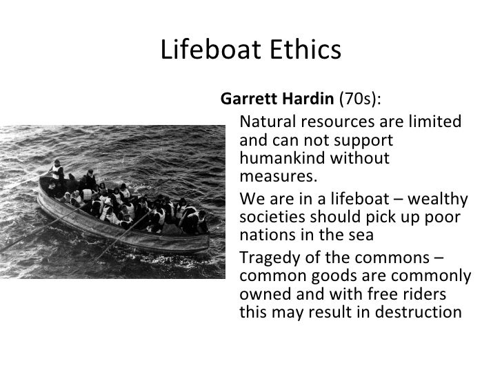the effective concept of lifeboat ethics essay