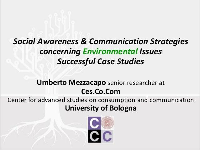 Environmental communication and Social Awareness: Successful Case Studies