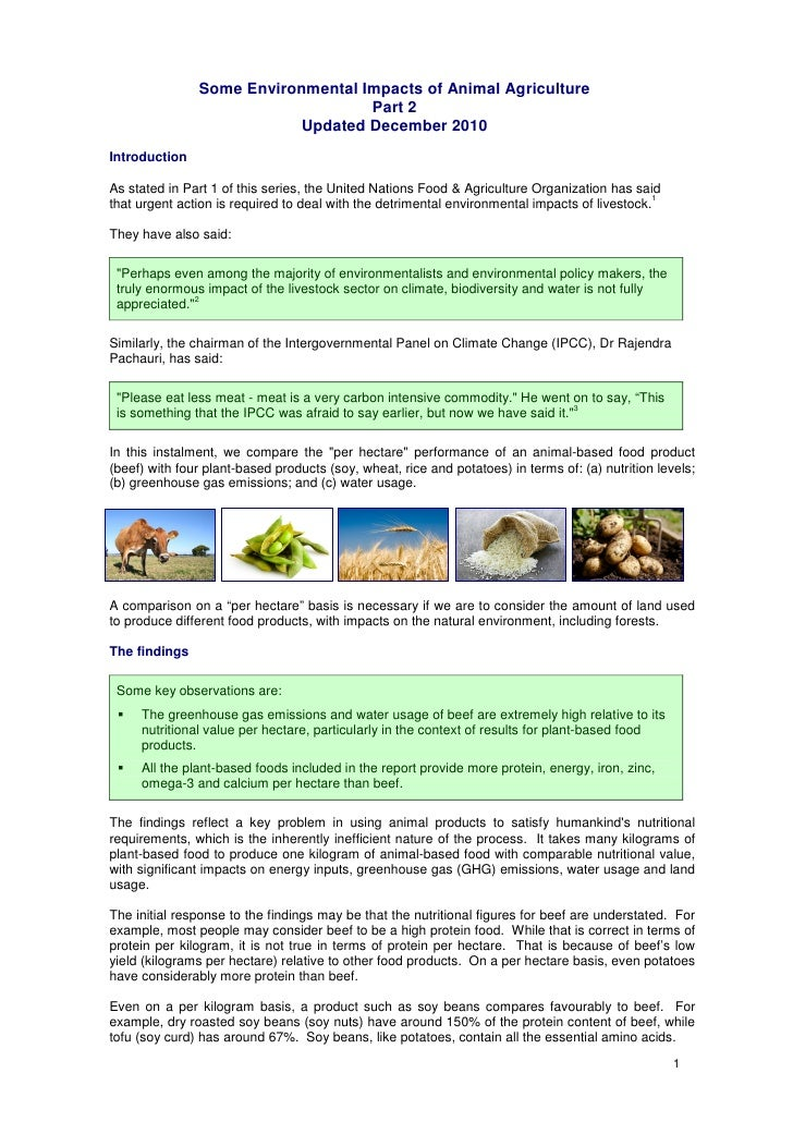 Some Environmental Impacts of Animal Agriculture                                   Part 2                           Update...