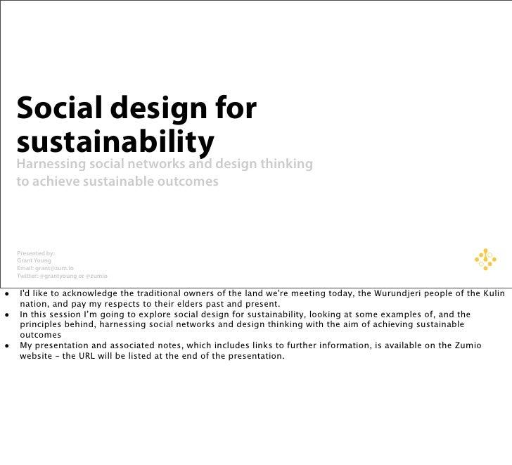 Enviro 2010 - Social design for sustainability