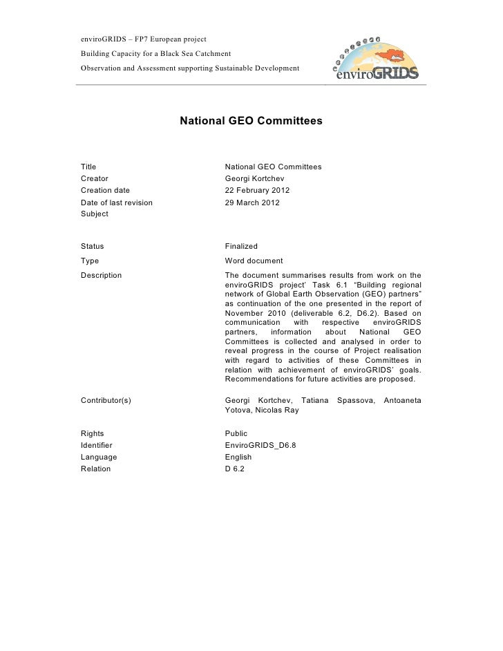 D6.8 National GEO Committees