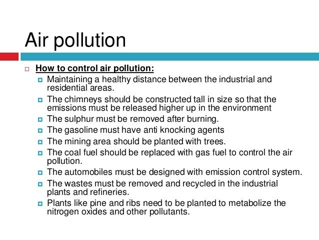 an introduction to the problems of air pollution