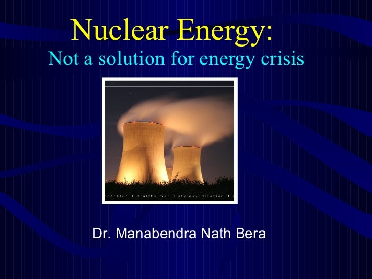 Save Our Environment, Stop Nuclear Energy Usage